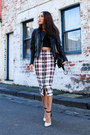Black-leather-jacket-all-saints-jacket-white-ankle-strap-tony-bianco-heels
