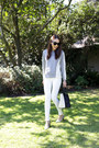 White-denim-zara-jeans-silver-knit-saba-sweater-navy-luggage-bag-celine-bag