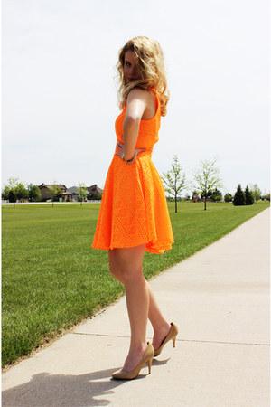 orange Express dress