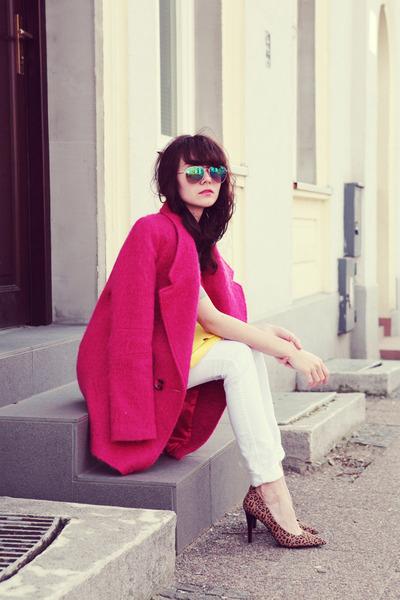 H&M jeans - warehouse coat - H&M shirt - Bershka bag - H&M sunglasses