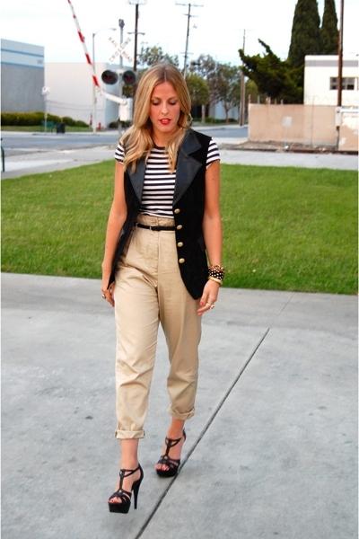 vintage vest - Gap shirt - H&M pants - Steve Madden shoes