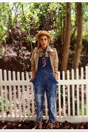 light blue thrifted jeans - camel Target jacket - dark khaki Gap blouse - dark b