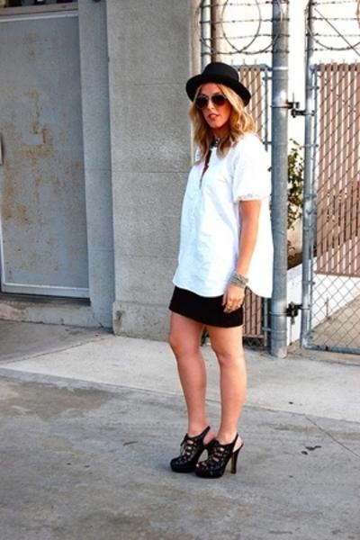 Forever21 hat - forever 21 sunglasses - quiksilver womens blouse - H&M skirt - B