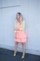 bubble gum Crossroads Find blouse - salmon thrifted dress