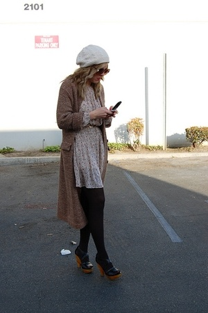 vintage hat - vintage sweater - vintage from Clothing Warehouse dress - Steve Ma