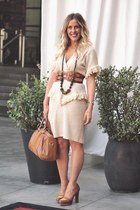 vintage dress - Sole Society bag - asos belt - Nine West loafers