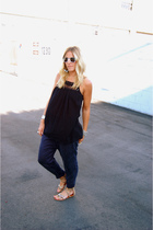 crossroads shirt - Zara pants - Madison Blue shoes