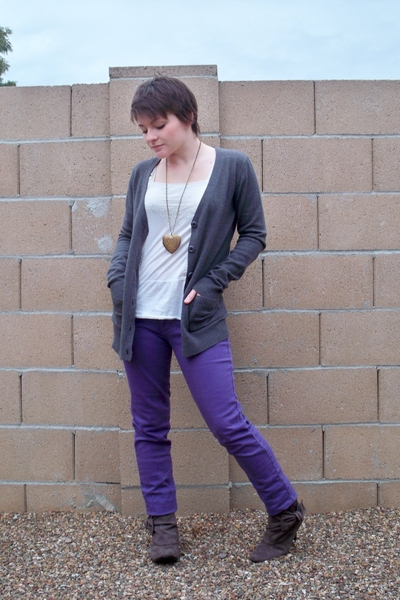 Urban Outfitters sweater - Urban Outfitters shirt - Bullhead pants - boots - nec