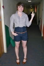 American Eagle blouse - forever 21buffalo exchange shorts - Urban Outfitters bel