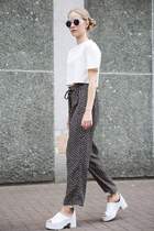 THE WHITEPEPPER top - THE WHITEPEPPER sunglasses - THE WHITEPEPPER pants