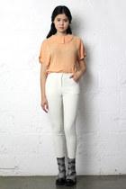 floaty vintage shirt - skinny THE WHITEPEPPER leggings