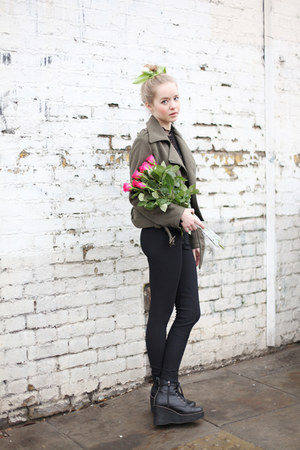 vintage jacket - THE WHITEPEPPER boots - THE WHITEPEPPER pants
