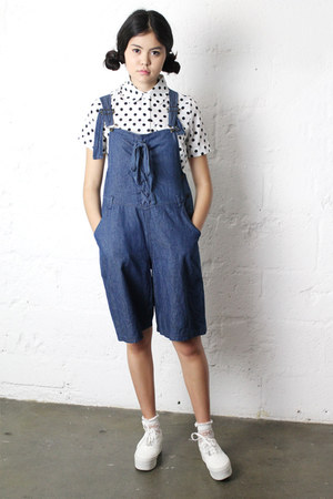 short sleeve THE WHITEPEPPER shirt - vintage romper