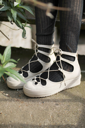 ivory lace up shoes THE WHITEPEPPER shoes
