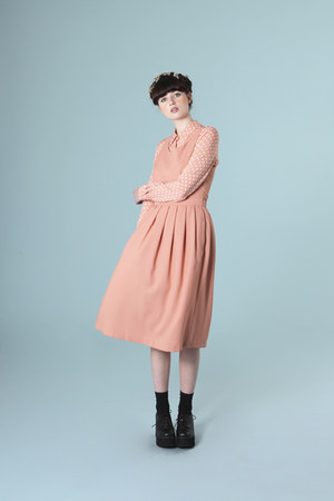coral dress THE WHITEPEPPER dress - THE WHITEPEPPER shirt
