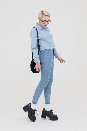periwinkle THE WHITEPEPPER shirt - periwinkle THE WHITEPEPPER jeans