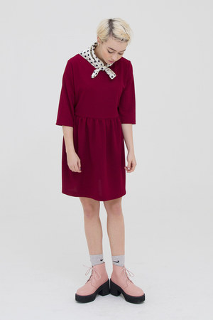 pink THE WHITEPEPPER boots - ruby red THE WHITEPEPPER dress