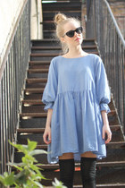 Sky-blue-boxy-dress-the-whitepepper-dress