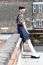 Navy THE WHITEPEPPER Dresses
