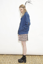 blue THE WHITEPEPPER jacket - ruby red THE WHITEPEPPER dress
