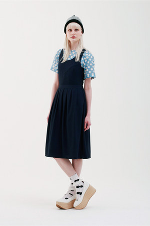 navy THE WHITEPEPPER dress - sky blue THE WHITEPEPPER dress