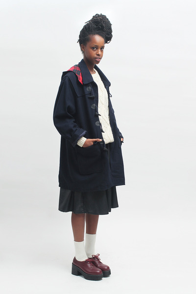 THE WHITEPEPPER coat - THE WHITEPEPPER shoes - THE WHITEPEPPER jumper