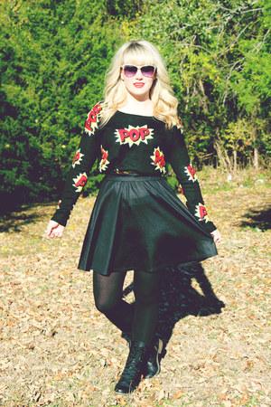Target boots - Target sweater - Target skirt