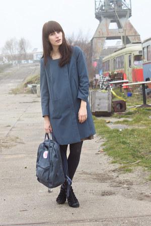 blue H&M coat - blue Fjllrven bag