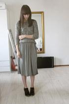 heather gray Zara Kids sweater - heather gray Zara Kids skirt