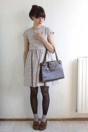 beige vintage dress