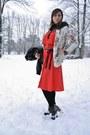 Coral-vintage-dress-vintage-dress-black-spike-lita-jeffrey-campbell-boots