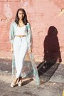 Light-blue-easy-american-apparel-jeans-turquoise-blue-dream-maxi-unif-dress