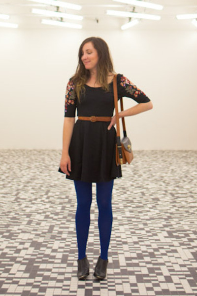 black ankle Sixty Seven boots - black fit n flare free people dress