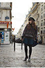 Dark-brown-frye-boots-navy-free-people-dress-charcoal-gray-vintage-sweater