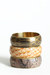 light brown reptile print bracelet