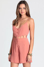 Salmon Too Soon Cutout Rompers