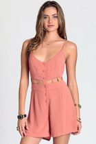 salmon too soon cutout romper