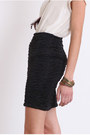 Black Fitted Skirts