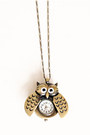Bronze-owl-clock-necklace