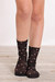 black floral anklet socks