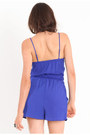 Blue Ruffle Rompers