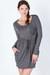 heather gray long sleeve dress