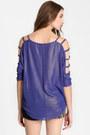 Violet Shimmer Cutout Tops