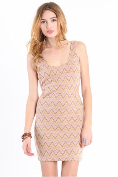 light pink chevron dress
