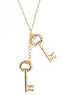 Gold-key-necklace