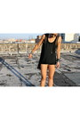Black-american-apparel-shorts-black-chiffon-hi-low-h-m-top
