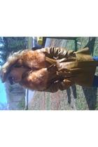 gold vintage coat