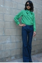 vintage blouse - Old Navy jeans