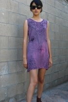 90s acid wash mini dress