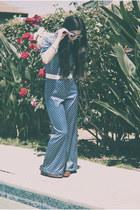 vintage weave Etsy shoes - polka dot vintage bodysuit - pink flower Forever 21 b